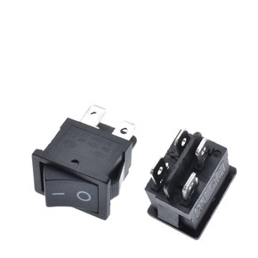 Кнопка G133 15*21 мм 2PIN ON/OF 6А Черная KCD1-101